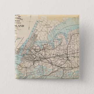 Map of Kings, Queens, Long Island Button