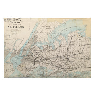 Map of Kings, Queens, Long Island Cloth Placemat
