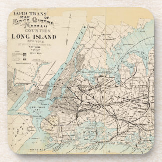 Map of Kings, Queens, Long Island Coaster