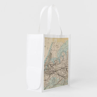 Map of Kings, Queens, Long Island Grocery Bag
