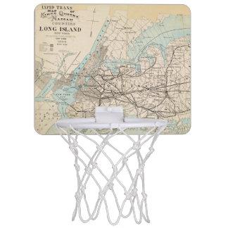 Map of Kings, Queens, Long Island Mini Basketball Backboard