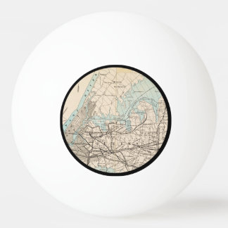 Map of Kings, Queens, Long Island Ping Pong Ball