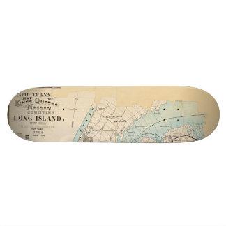 Map of Kings, Queens, Long Island Skateboard Deck