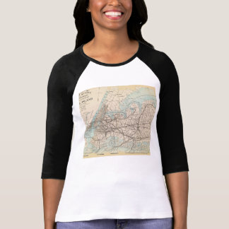 Map of Kings, Queens, Long Island T-Shirt
