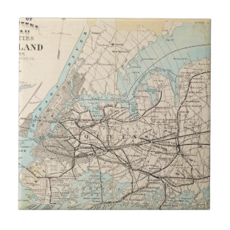Map of Kings, Queens, Long Island Tile