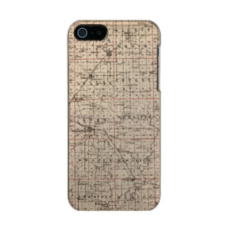 Map of Knox County Metallic iPhone SE/5/5s Case