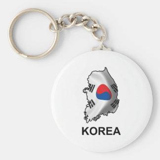 Map Of Korea Keychain
