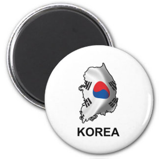 Map Of Korea Magnet