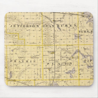 Map of Kosciusko County Mouse Pad