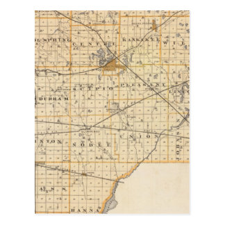 Map of La Porte County Postcard