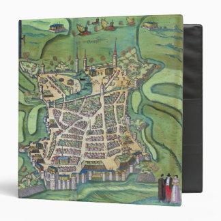 Map of La Rochelle, from 'Civitates Orbis Terrarum Binder