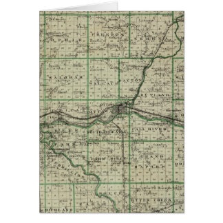 Map of La Salle County Greeting Card