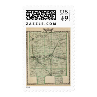 Map of La Salle County Stamps
