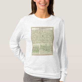 Map of Lagrange County with La Grange, Lima T-Shirt