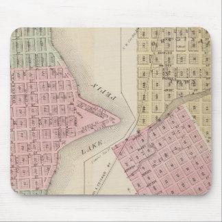 Map of Lake City, and Map of Wabasha, Minnesota Mouse Pad