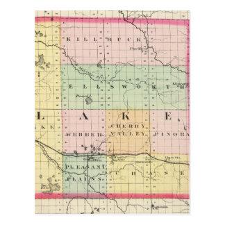 Map of Lake County, Michigan Postcard