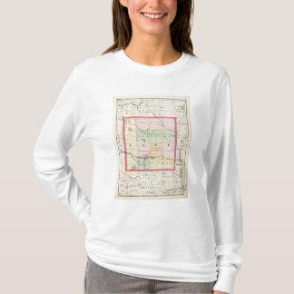 Map of Lake County, Michigan T-Shirt