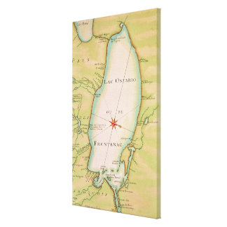 Map of Lake Ontario Canvas Print