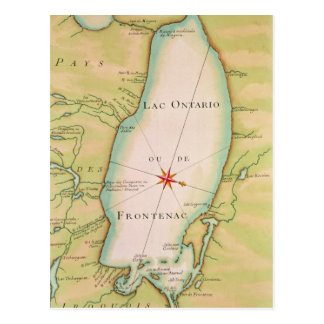 Map of Lake Ontario Postcard