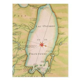 Map of Lake Ontario Postcard
