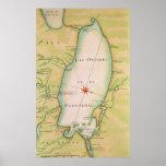 Map of Lake Ontario Poster