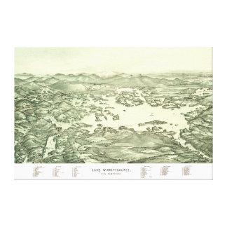 Map of Lake Winnipesaukee from 1903 Canvas Print