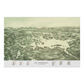 Map of Lake Winnipesaukee from 1903 Poster