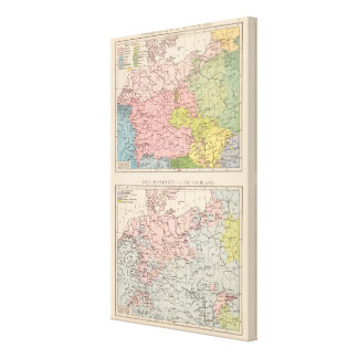 Map of Languages and Religions in Germany Canvas Print