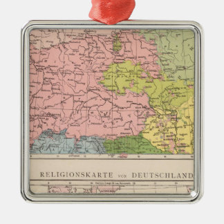 Map of Languages and Religions in Germany Ornament