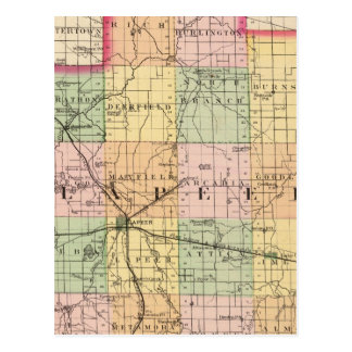 Map of Lapeer County, Michigan Postcard