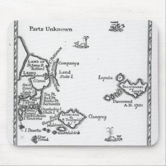 Map of Laputa, Balnibari, Luggnagg Mouse Pad