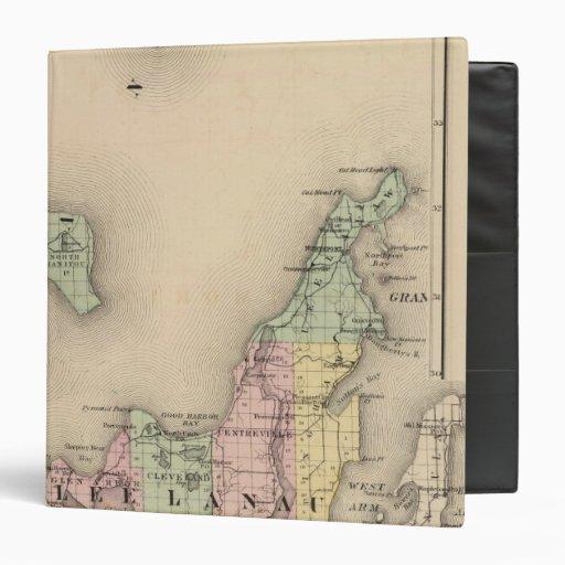 Map of Leelanau County, Michigan Binders