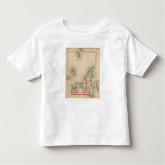 Map of Leelanau County, Michigan Toddler T-shirt