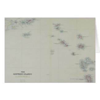 Map of Leeward Islands Card