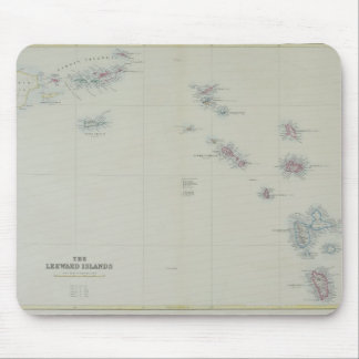 Map of Leeward Islands Mouse Pad
