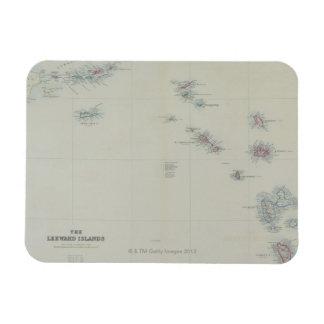 Map of Leeward Islands Rectangular Photo Magnet