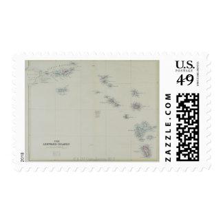 Map of Leeward Islands Stamp