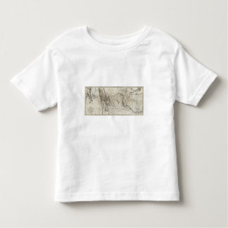 Map of Lewis and Clark's Track 2 Toddler T-shirt