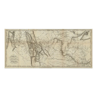 Map of Lewis and Clark's Track Poster