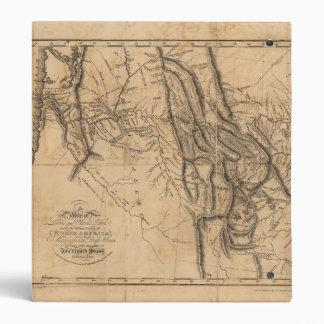 Map of Lewis & Clark's Across Western America 1814 Binder