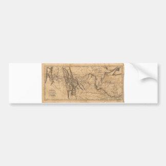 Map of Lewis & Clark's Across Western America 1814 Bumper Sticker