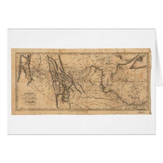 Map of Lewis & Clark's Across Western America 1814 Card