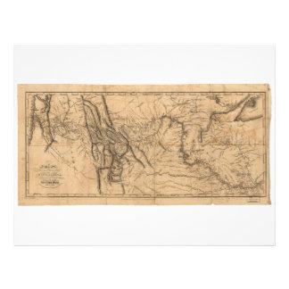 Map of Lewis & Clark's Across Western America 1814 Letterhead