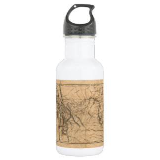 Map of Lewis & Clark's Across Western America 1814 Stainless Steel Water Bottle