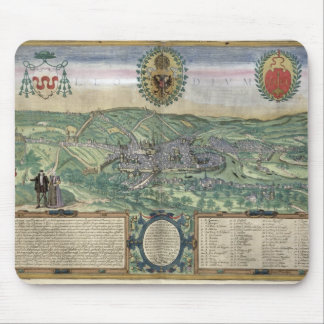 Map of Liege, from 'Civitates Orbis Terrarum' by G Mouse Pad