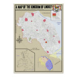 Map of Lindsey Poster
