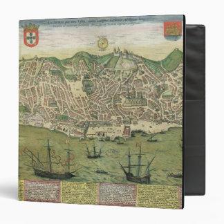 Map of Lisbon, from 'Civitates Orbis Terrarum' by 3 Ring Binder