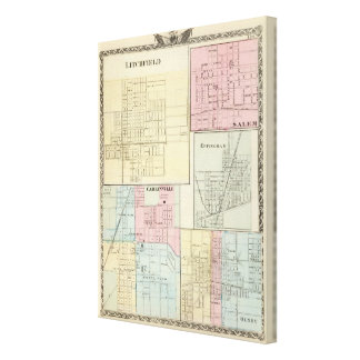 Map of Litchfield, Carlinsville, Salem Canvas Print