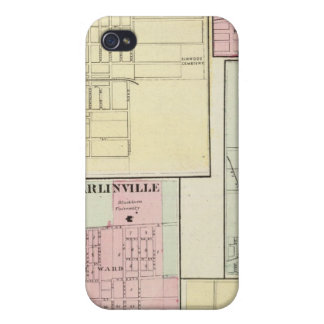 Map of Litchfield, Carlinsville, Salem iPhone 4 Covers