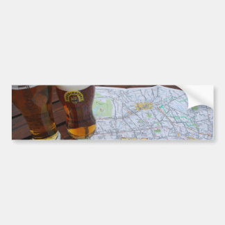 Map of London City Center Car Bumper Sticker